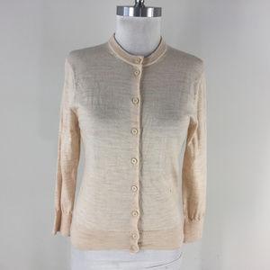 Patagonia M Merino Wool Blush Beige Cardigan